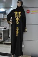 Free Shipping New Clothing 3 color Islamic Dubai Arabia Muslim Abaya for Lady