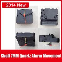6pcs/Lot Desk Table Alarm Clock Movement Machine,Quartz Parts Alarm Clocks With Full Set Hands in Repair