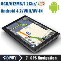 7 inch Android 4.2 GPS Navigation Boxchips A13 AV IN 1.2G 512MB 8G FM WIFI tablet gps navigator 7020
