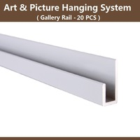 Art and picture hanging system part,Gallery rail track, Wall mounted rail, picture hanging hook, display hardware, Free shipping