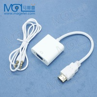 1 pcs HDMI to VGA with Audio Cable HDMI to VGA Adapter 1080p HDMI to VGA Converter For Xbox 360 PS3 free shipping