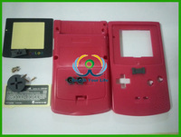 Free Shipping Rose Red Case Shell Full Housing For Gameboy Color for GBC No Screws!