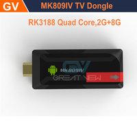 NEW MINI PC MK809IV Andriod 4.2+2GB/8GB Quad-core RK3188+HDMI OUTPUT(TV)+3D Movie Play+Mobile phone DLNA+1080P XBMC+Somatic Game