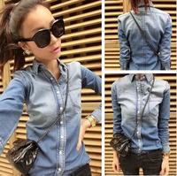 2014 new spring Korean style women blouses slim jeans blouses women free shipping Z4289
