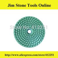 4 Inch excellent quality spiral shape diamond granite wet polishing pads sanding disc stone resin polishing pads 10 Pcs/Lot