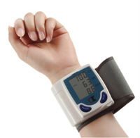 Potarble Home Automatic Digital Wrist Blood Pressure Monitor Heart Beat Tester Sphygmomanometer Health Monitors Free Shipping