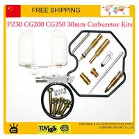 30mm carburetor kits pz30 CG 150cc 200cc 250cc motorcycle repair tools gasket jet gasket idle valve needle carbs accessories