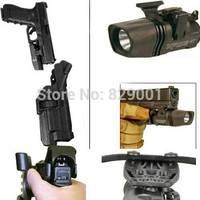 Blackhawk Holsters LH Black Level 3 Tactical Glock TAC SERPA Pistol Holster With Flashlight Holster