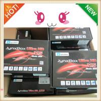 Hot sell1PCS/lot tv stick smart tv JynxBox Ultra, JynxBox Ultra HD V5 FTA Satellite Receiver HD DVB-S,Free shipping