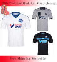 A+++ 2014 Top 100% Thailand France Marseilles Soccer Jersey Marsielle Blouse Thai Unifrom Shirt Maillot De Foot