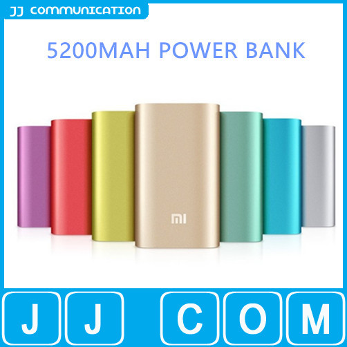 Brand New XiaoMi MI Power Bank 5200mAh Portable External Battery Pack For iPhone Samsung HTC NOKIA HUAWEI Can Choose Color(China (Mainland))