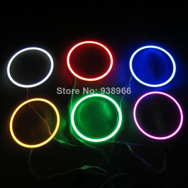 2X 80mm DC12V Car color COB LED Angel Eyes ring / Halo Ring Halo Light 80MM LED Angel eyes(China (Mainland))