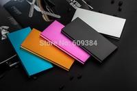 Fashion Metal Mobile Power Bank 20000mAh Ultra-thin 9.8mm Slim USB Portable External Battery Charger Li-Polymer Power Bank
