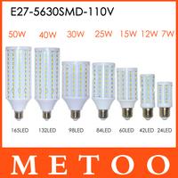 Ultra Bright lamps 12W 15W 25W 40W 50W LED E27 5630 SMD lanterna 110V LED lustres light,Saving led lighting 1pcs/lot