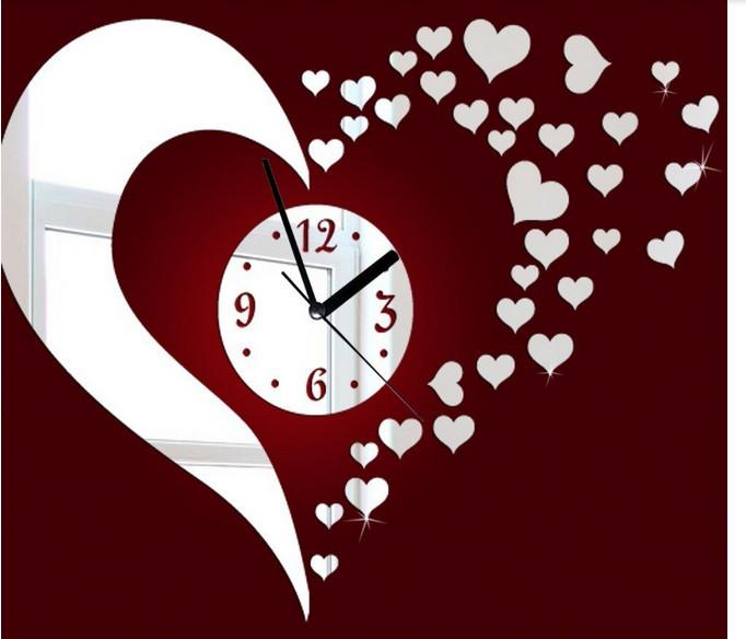 online kaufen gro handel wall stick clock aus china wall. Black Bedroom Furniture Sets. Home Design Ideas