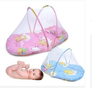 Free Shipping Portable Baby Bed Crib Folding Mosquito Net bed Infant Cushion Mattress Pillow Infant bed(China (Mainland))
