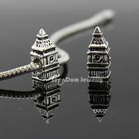 5Pcs/Lot Quality Big Ben Beads Quality 925 Silver 4MM Hole Elizabeth Clock Tower Bead Fits DIY European Bracelet SeenDom Jewelry