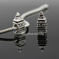 5Pcs/Lot Quality Big Ben Beads Quality 925 Silver 4MM Hole Elizabeth Clock Tower Bead Fits DIY European Bracelet SeenDom Jewelry