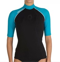 Decathlon Tribord NEO RASHVEST 1.5 mm neoprene short sleeve diving snorkeling suit  swimming towel terry lining warm rash guard