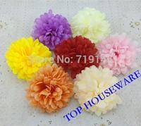7Colors available 10cm Artificial chrysanthemum silk flower diy flower bouquet hair accessoires arch flowers