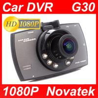 "New arrived! G30 Car DVR 1080P Novatek+Glass lens +1920*1080+2.7""+HD+ 6 IR Lights + Wide Angle 140 Degrees+car camera"