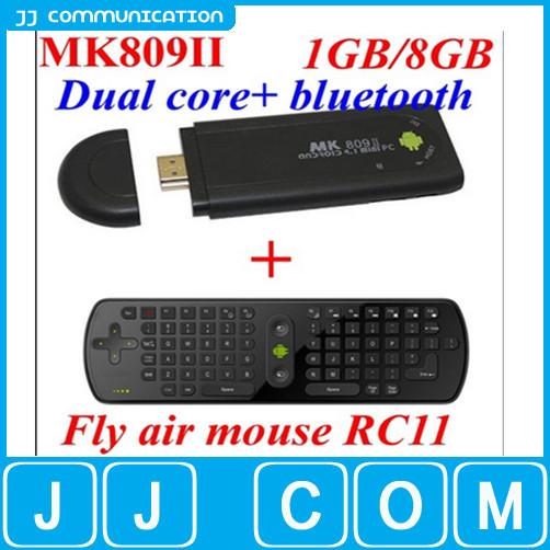MK809 II+RC11 Android 4.4.2 Mini PC TV Dongle Rockchip RK3066 Cortex A9 Dual core 1GB RAM 8GB Bluetooth MK809II 3D TV Box(China (Mainland))