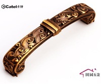 Continental antique furniture handle drawer wardrobe coffee gold 96mm