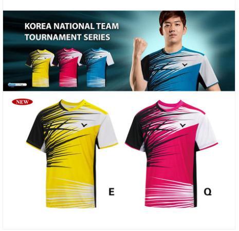 a piece wholesale 2014 new fashion men badminton tennis clothing tops and shorts Lee Yong-dae same style Apparel Squash(China (Mainland))