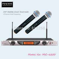 POWAVE professional wireless microphone MIC-6200 studio microphone UHF microphone professional