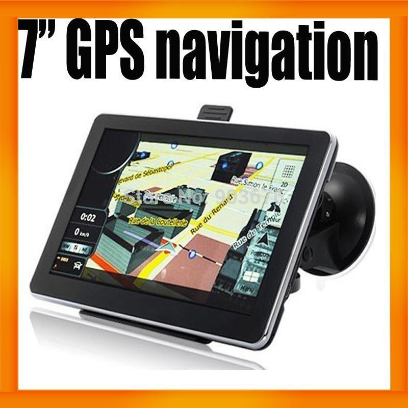7 Inch HD Display Free Lifetime Map 128MB RAM 800mhz cpu GPS Car Navigation Sat Nav MP4 FM Transmittor 2pcs/lot(Hong Kong)