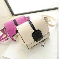 2014 summer women messenger bag small chain bag fashion mini panelled bag free shipping
