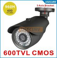 Cmos 800TVL 960H IR CUT Filter 24pcs IR leds Day/night waterproof indoor / outdoor CCTV security camera system with bracket