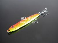 Small Lead Fish Fishing Lure Laser Body 3D Eye Hook 20g Jigging Metal Jigging Isca artificial