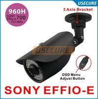 Sony Effio-E CCD 700TVL 960h CCTV Indoor/Outdoor security camera fixed 3.6mm lens IR Camera+Free shipping