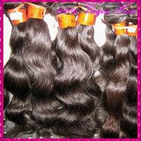 "For Your WestKiss Virgin Eurasian hair 12""-28"" 3pcs/lot loose body wave weaves natural brown/black bundles grade 7A stocked!"