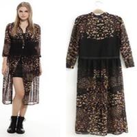 Roupas Femininas Fashion 2014 New Casual Women Dress 2 Pcs Winter Floral Print Chiffon Cardigan Long Beach Gowns Dress Vestidos