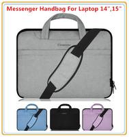 """Hot Handbag Sleeve Case For 14 """",14.4"""",15 """",15.6 inch Laptop Bag, For Macbook Messenger Shoulder Bag, Wholesale, Free Ship"""