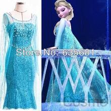 Wholesale 2014 new Frozen queen dress girl women ladies Elsa costume dresses movie cosplay princess for children kid...