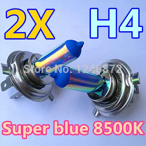 2pcs 12V60/55W H4 Super Colour blue vacuum crystal blue coated halogen Colour bulb P43t(China (Mainland))