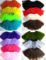 Trade explore  Baby Girls kids Tulle tutu skirt  Girls cheap Halloween party costume  Dance wear  10pcs/lot 15 colors