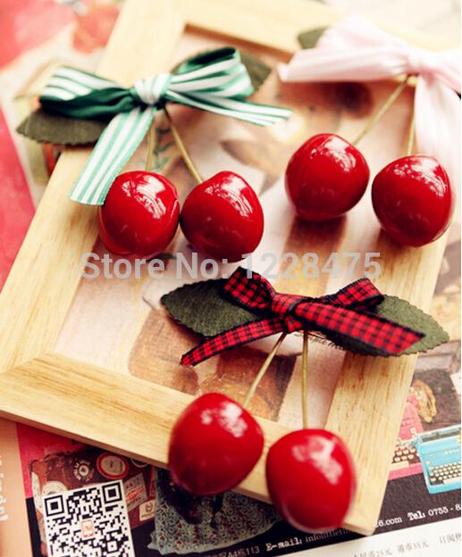 Free shipping NEW kids/ Princess / girls baby cherry Hair Clips/ bow clip / Hair pins / Hair Accessories/ korean style(China (Mainland))