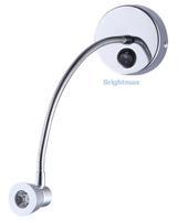S034A SWITCH 3W 200Lumen Flexible arm light LED wall light LED reading light LED gooseneck light