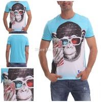 Hot spanish brand new design for t-shirt 2014 new style men 3D t shirt fashion short sleeve summer cotton desigual shirts