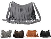 2014 New Tassel Women Leather Handbag Cross Body Shoulder Bags Fashion Messenger Bag 23*9*34cm