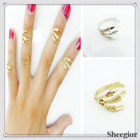 Cheap Fashion New Designer Punk Rock Knuckle Rings Skull Eagle Claw Finger Nail Party rings for girls Wholesale