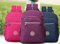 waterproof nylon   shoulder  lady backpack free shipping