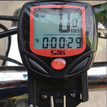 Новое поступление водонепроницаемая цифровая жк велосипед компьютер цикл велосипед спидометр пробег