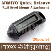 Armiyo Rail Sling Steel Mount Quick Deleave Swivel Mount  Attachment Buckle For Hunting Rifles Guns Airsoft Sling 20pcs/lot