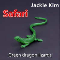 Free shipping African Grass green dragon Lizard mighty bulk solid simulation model for early childhood Animal Toy