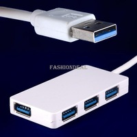 2014 New Top Quality Super High Speed USB 3.0 HUB 4 ports Splitter Adapter For PC Laptop White Free Shipping #7 SV003371
